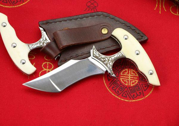 Yeni Itme Hançer Açık Sabit Bıçak Bıçak EDC cep bıçaklar VG10 Saten Tek Kenar Tanto Bıçak EDC Araçları