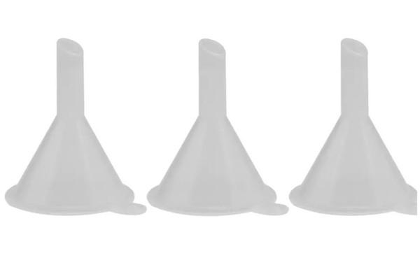 Parfüm Sıvı Için Plastik Mini Küçük Huniler Uçucu yağ doldurma boş şişe Ambalaj Aracı