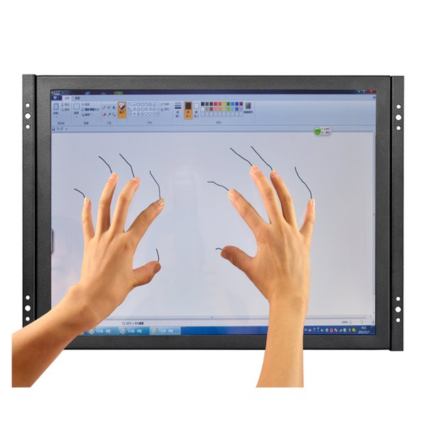 top popular 15 inch low cost capacitive touch screen monitor 1024*768 outdoor touch screen monitor with AV BNC VGA HDMI USB interface 2019