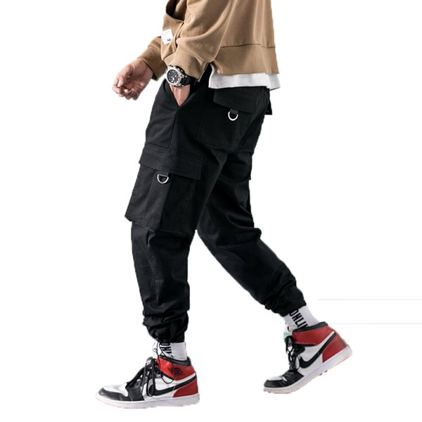 2019 Long Pant Men cargo pants Baggy Trousers Fashion Fitted Bottoms streetwear Ankel hip hop pant Male Overalls Sweatpants 5xl