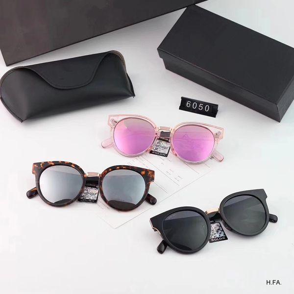 2018 new cat-eye sunglasses female personality plate sunglasses large frame fashion glasses model: 6050 color: 3