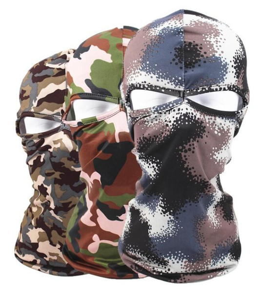 3D Camouflage Cycling Full Face Mask Camo Headgear Balaclava Neck Protector for Hunting Fishing Camping UV Protection Mask wholesale