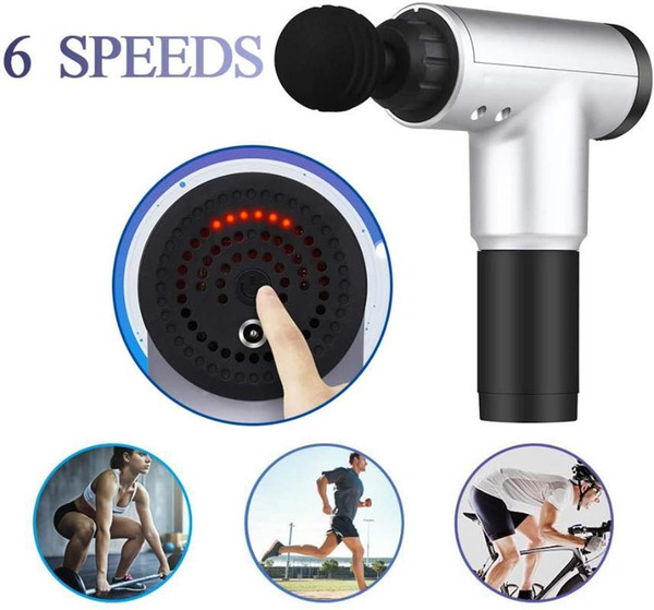best selling Stock Massage Gun Muscle Relaxation Massager Vibration Fascial Gun Sport Therapy Fitness Equipment Pain Relief Slimming 6 Speeds FY0027