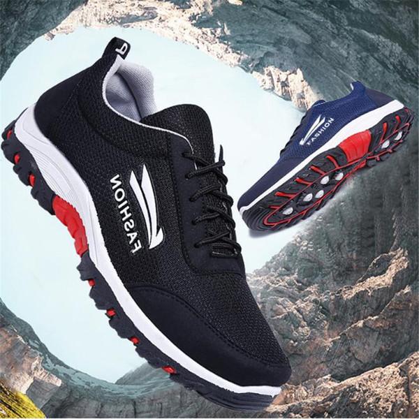 Yeni erkek spor ayakkabıları erkek rahat aşınmaya dayanıklı olan düz dipli seyahat ayakkabı-olmayan slip