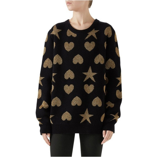 18FW Italy Autumn Winter Warm Sweater Star Love knitting Pullover Cotton Sweaters Hip Hop Skateboard Crewneck Sweaters Casual Coat HFYMMY029
