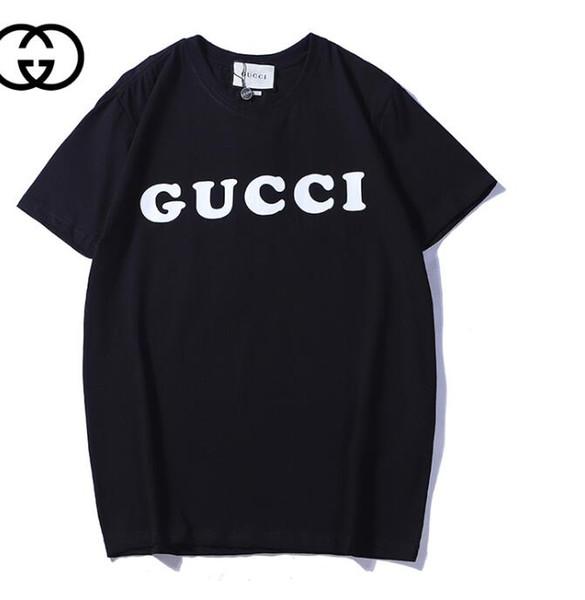 2019 mens designer de t camisas da moda dos homens da marca t shirt casual verão camisa de algodão carta impressão tripulação pescoço de manga curta