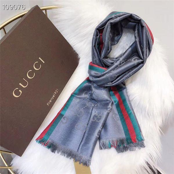 Designer de luxo cachecol longo mulheres xale de seda e algodão clássico da moda ouro e fio de prata lenços de seda de alta qualidade tamanho 70-180 cm