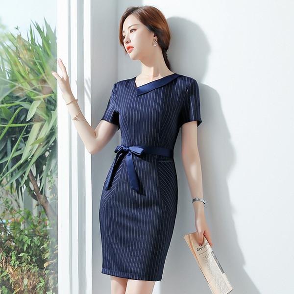 Vestido stile estivo Abiti eleganti patchwork per ufficio Roupas Feminina Tubino aderente casual Abito donna matita