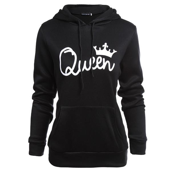 Paare König Königin Hoodies Frauen Kleidung Männer Hoodies Frühling Herbst Mode Sweatshirts