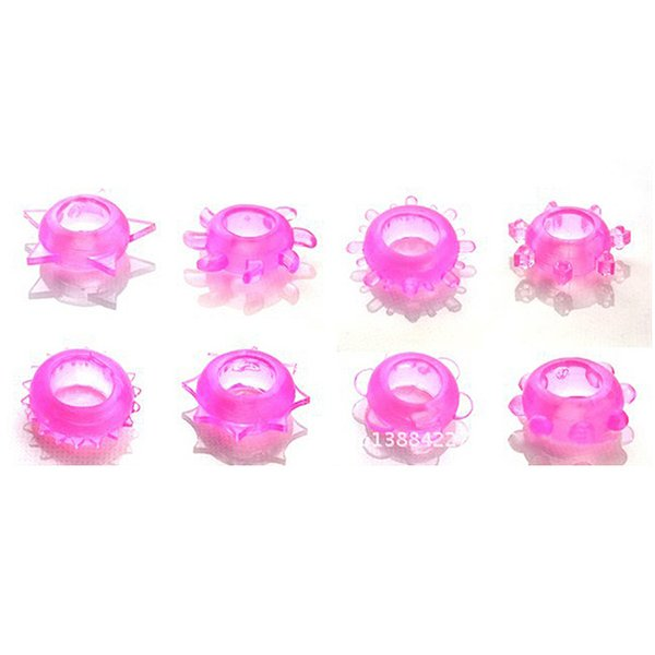 Soft Silicone Cock Ring Premature Ejaculation Penis lock Adult Products Male Sex Toys Crystal Penis Rings for Men