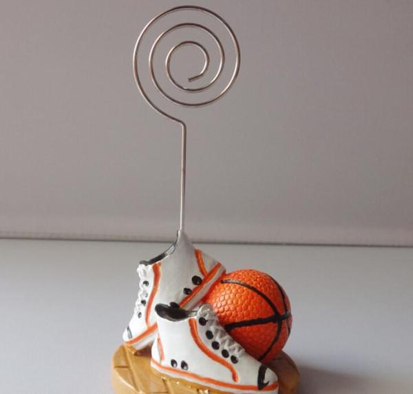 100 UNIDS Moda Diseño Resina Baloncesto Lugar Titular de la Tarjeta Deportes Temáticos WeddingParty Favores Fiesta de Aniversario Decoración de la mesa SN1813