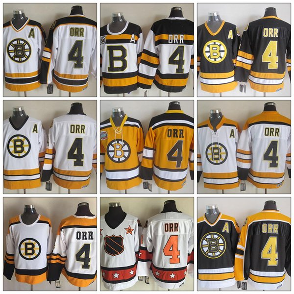 Wholesale Vintage Boston Bruins Jersey 4 Bobby Orr Red White Black 75TH CCM  Vintage Ice Hockey Jerseys Cheap Store e6ebe9987
