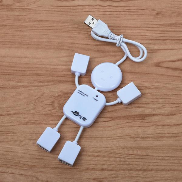 Dizüstü PC Bilgisayar USB flash Robot Erkekler İnsan Varlığı Kablo İçin Hub Cep Telefonu Şarj Şarj FFFAS USB Hub Man Şekil 4 Port