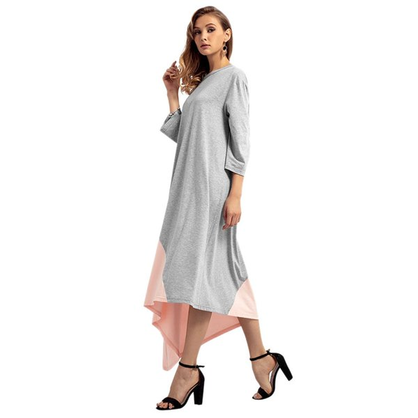 Women's Autumn Winter Models Middle Eastern Clothes Muslim Large Size Dress Arab Robes