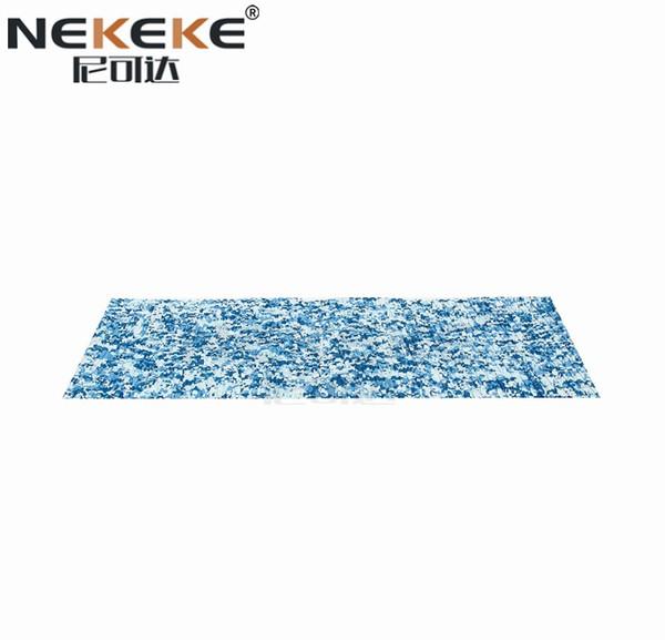 NEKEKE прочный EVA пены палуба сцепление pad синтетический синий белый пол морской настил белый синий камуфляж + алмаз на поверхности