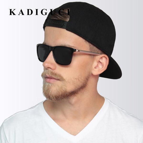 KADIGUCI бренд унисекс ретро алюминий + TR90 квадратных поляризованных солнцезащитных очков линзы старинные очки аксессуары солнцезащитные очки для мужчин / женщин