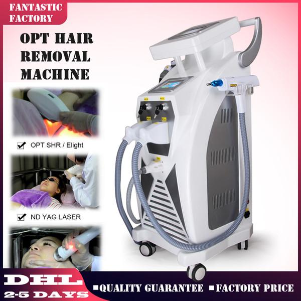 Hot sale Multifunction IPL RF Nd Yag Laser Skin Rejuvenation Elight Hair Removal OPT SHR IPL Beauty Machine with CE
