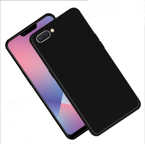 Suitable For OPPO A5 Mobile Phone Shell Black Matte Soft PBAM00