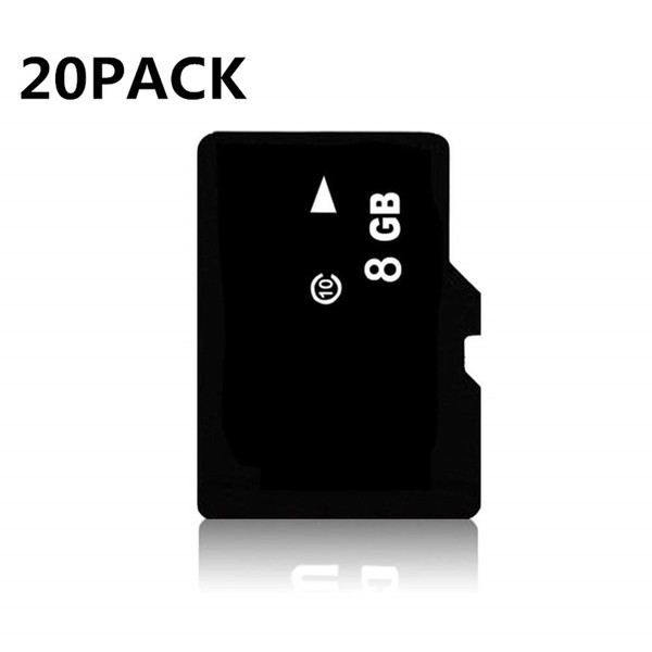 20 Pack C10 8GB TF Card Micro SD Card Flash Memory Card for Smartphone Camera Tablet PC GPS Speaker Monitoring equipment Drone SD Adapter