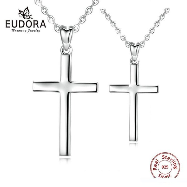 Small Cross Pendant Dainty Cross Necklace Tiny Sterling Silver Cross Necklace