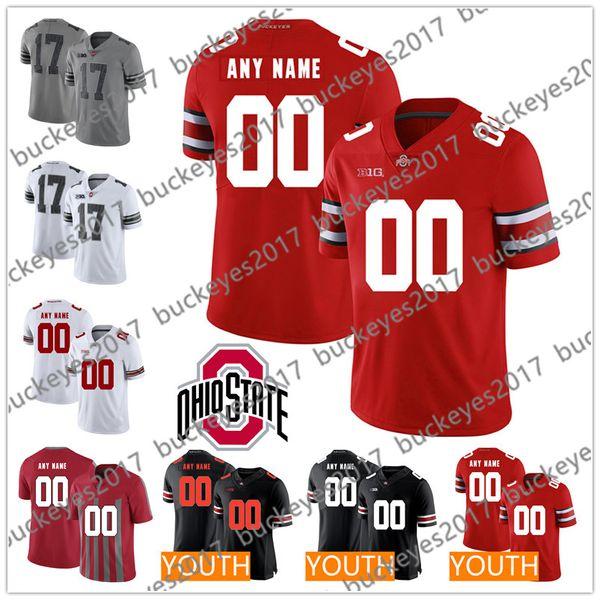 Custom 2019 NCAA OSU Ohio State Buckeyes Campos de camuflaje Haskins George Dobbins Elliott Bosa Hombres Juvenil Kid Rojo Rojo Gris Negro Camisetas de fútbol americano