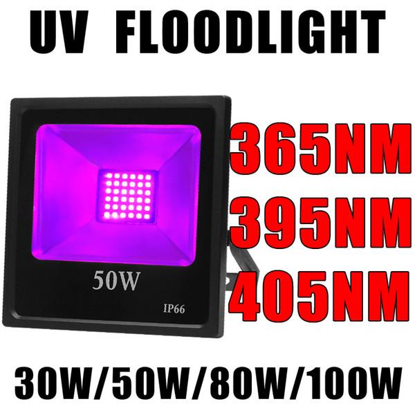 365nm SMD UV Blacklight Taşkın Işık UV Ultraviyole Led Light, Açık IP66 Su geçirmez Sahne Işık