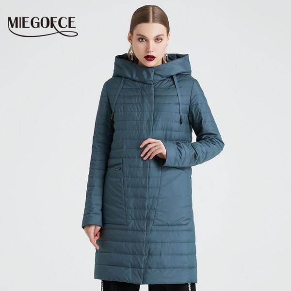 Großhandel MIEGOFCE 2019 Frühling Und Herbst Mantel Der Frauen Winddicht Mit Kapuze Trench Der Frauen Einfache Dünne Frühlingsjacke Neues Design Von