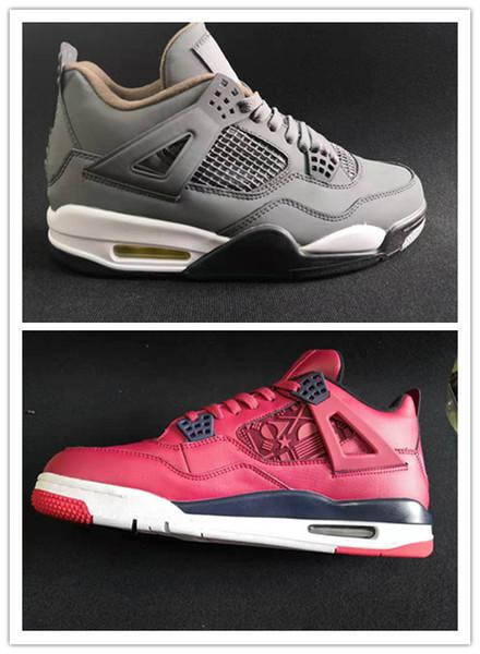 Vendita all'ingrosso 4 iv cool grey 4s red scarpe da basket da uomo scarpe da ginnastica sport sneakers outdoor buona qualità sconto economico taglia 7-13