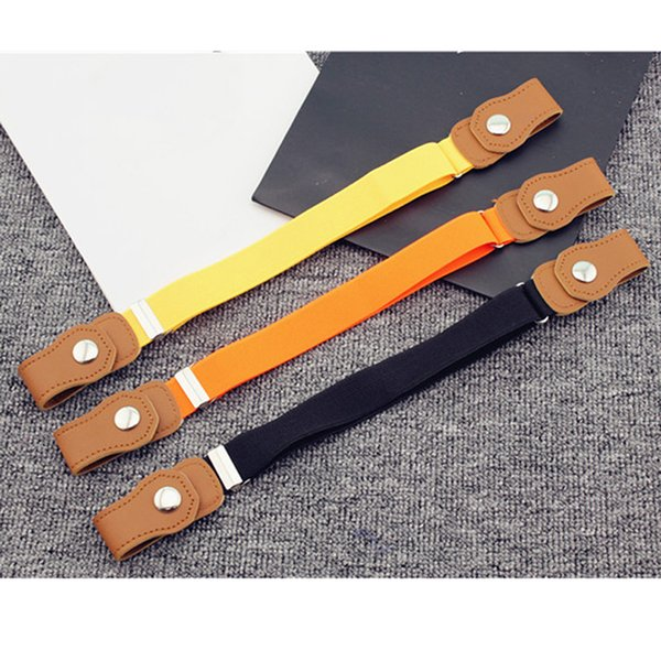 Clothing Accessories High Quality Children Anti Deduction Belt Baby Nursery Candy Color Jeans Belts Girls Boys Elastic Belts