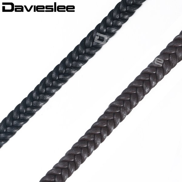 wholesale Jewelry Findings Microfiber Braided Leather Rope String Chains For Bracelet Necklace DIY Jewelry making 8mm DALF02