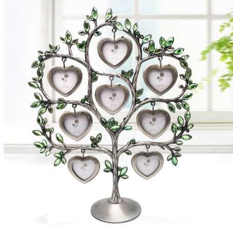 8 Photos Heart Shaped Happiness Tree Picture Frame Home Decoration Metal Art Craft Creative Gift Customized Photo Accepted