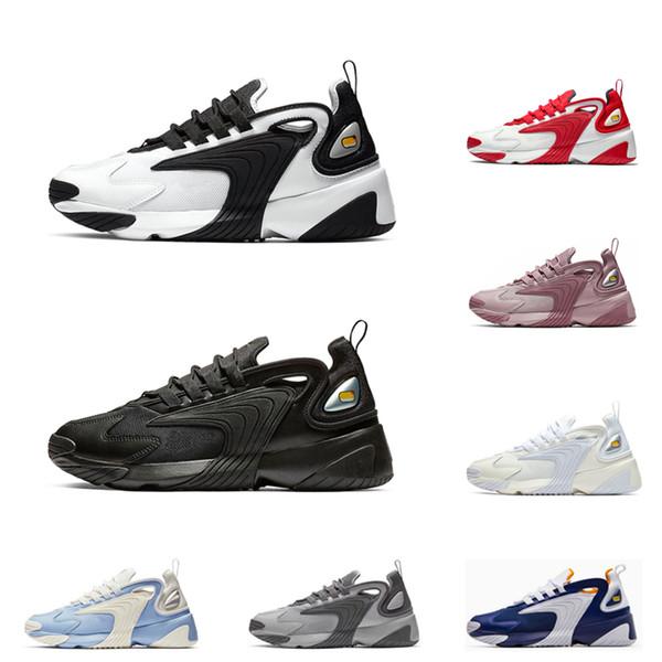 nike M2K zoom Üçlü Siyah M2k Tekno Zoom 2 K spor sneakers erkekler kadınlar için koşu ayakkabıları blakc beyaz cremay beyaz gri Mens açık Eğitmen 36-45