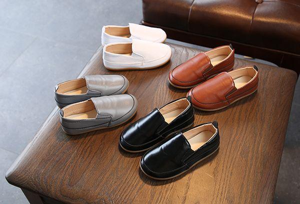 4 renkler toddler düz ayakkabılar Avrupa Tarzı Düz renk yumuşak alt yumuşak nedensel ayakkabı çocuklar ayakkabı ücretsiz kargo
