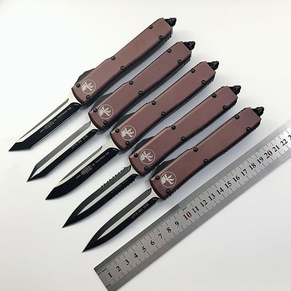 Offre spéciale! Micro-tech UTX-85 UTX-70 Couteau automatique Action CNC Cutter tactique Couteaux à engrenages Couteaux tactiques MT D2 Couteau EDC Couteaux de poche