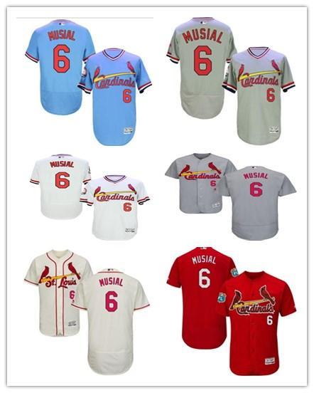 696018dc 2019 Can Custom 2019 St. Louis Cardinal Jerseys #6 Stan Musial Jerseys  Men#WOMEN#YOUTH#Men'S Baseball Jersey Majestic Sport Wear Free Ship From ...