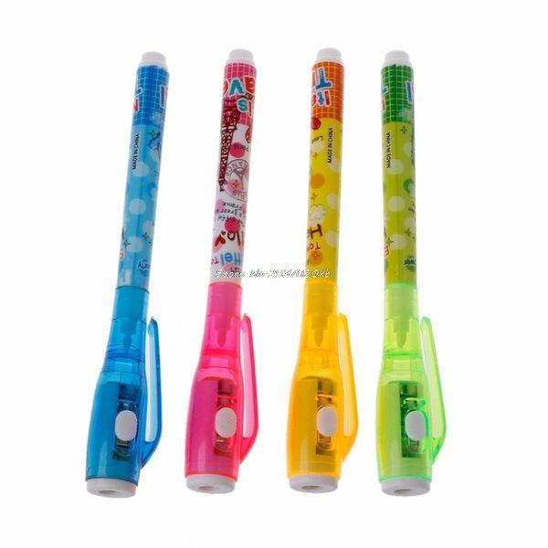 Penna invisibile della penna dell'inchiostro 4pc della penna con la penna magica chiara del bambino dell'indicatore per il messaggio segreto