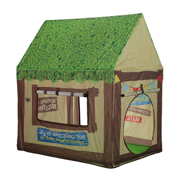 Tienda de juegos para niños Casa de juegos para niños - Modelo de tienda al aire libre para interiores Clubhouse verde portátil para niñas Casa de juegos para niños