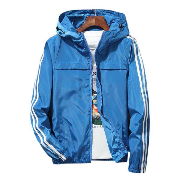 2018 Thin Hoodie Jacket Men Windbreaker Spring Autumn Mens Jackets Hooded Casual Man Jackets Male Coat Outwear for Couple 5XL