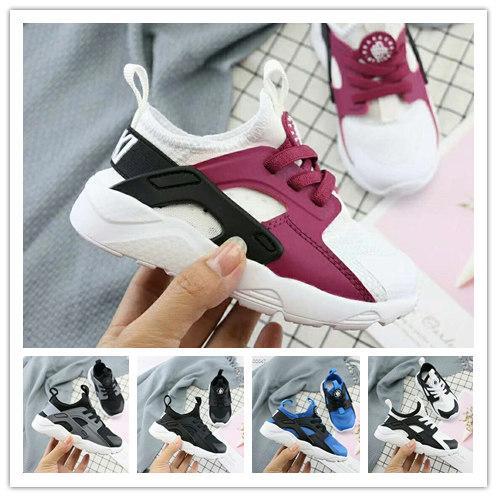 2018 Air Huarache Ultra Running Shoes For Men Woman Big kids Black White Air Huaraches Huraches Sports Sneakers size22-35
