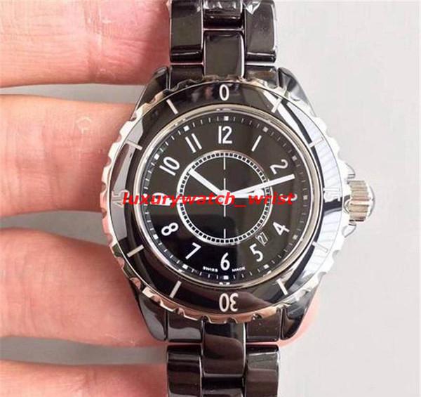 Beste Verkauf Marken-Damen weiß / schwarz Keramik Uhr Quarz Mode exquisite Göttin Uhr