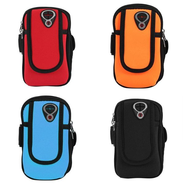 Sports Jogging Gym Armband Running Riding Bag Arm Wrist Band Hand Mobile Phone Case Holder Bag Outdoor Waterproof Hand