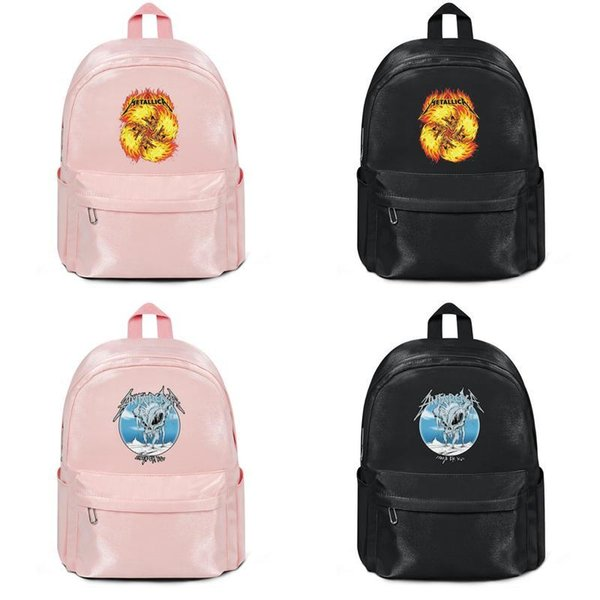 2019 summer new arrival Fashion Print Durable Metallica Flame Skulls King of metal Anime Backpack for Water Resistant Manufacturers Em 2