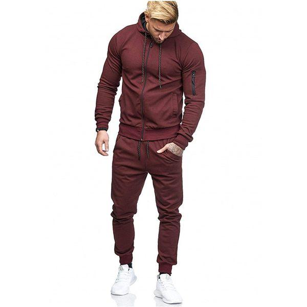 Hoodies Tracksuit Set For Men Male Zipper Sweatshirt Sweatpants High Street Fashion Sportswear Jackets Sets M-3XL