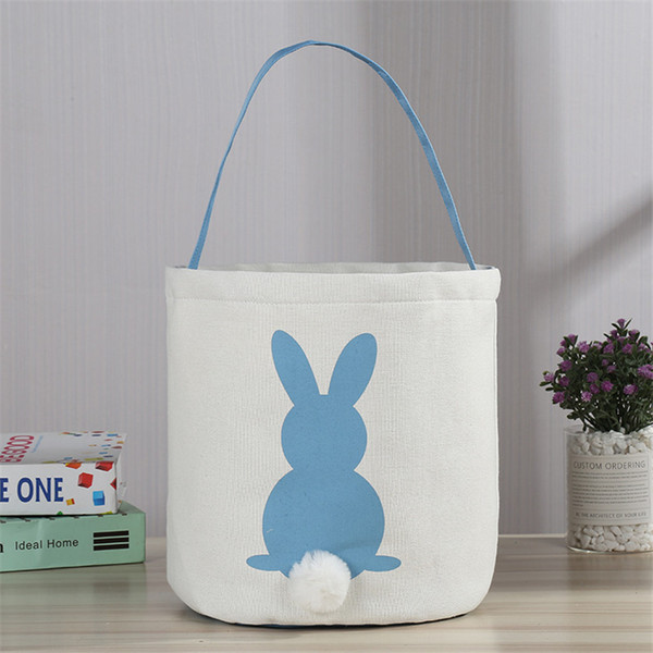 wholesales cute tote bag cotton and linen easter bag reticule popular handbag linen-cottonl rabbit pictures with cotton-tail