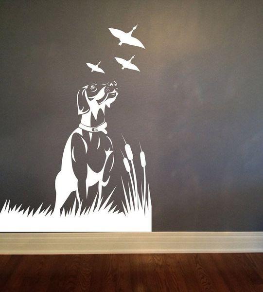 Wall Sticker Dogs And Birds Bedroom Kids Room Art Vinyl DIY Decal Home Decor Mural