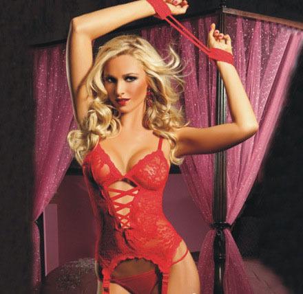 Bayan Iç Çamaşırı Seksi Dantel Hollow Çapraz Kemer Mahkemesi Yelek Katı Renk Giyim Lady Artı Boyutu S-6XL için 4 Renk