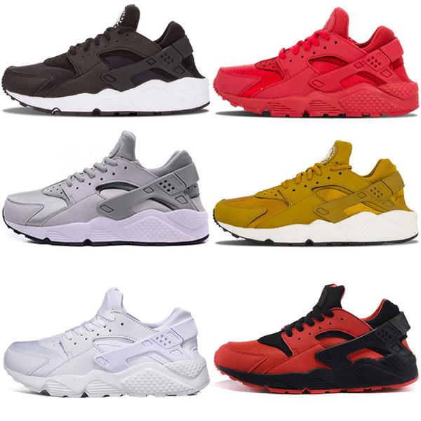 Acheter Nike Air Huarache 1 2018 Huarache 1.0 Run Ultra 4 IV Chaussures De Course Hommes Femmes Huaraches Run Triple Noir Blanc Rouge Multicolore