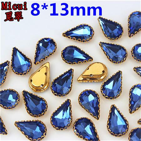8x13mm Medium blue