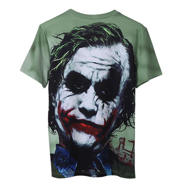 Été Mens T Shirt avec Clown 2019 Nouvelle Mode Hommes Designer T-shirts Amoureux Crâne 3D À Manches Courtes Marque Tops Tees Vêtements En Gros