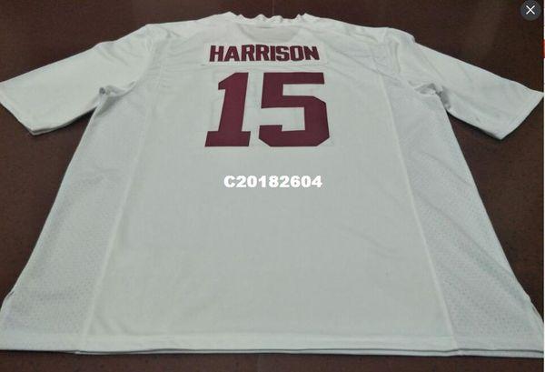 Homens # 15 Ronnie Harrison Alabama Crimson Tide vermelho preto branco College Jersey ou personalizado qualquer nome ou número jersey